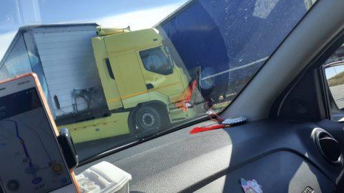 Acum! Accident intre doua tir-uri pe DN 72 in localitatea Mija!